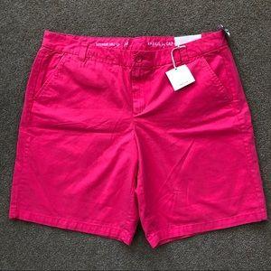 NWT GAP Boyfriend Roll-Up Bright Shorts size 14